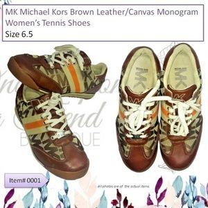 MK Michael Kors Monogram Women's Tennis Shoes 6.5